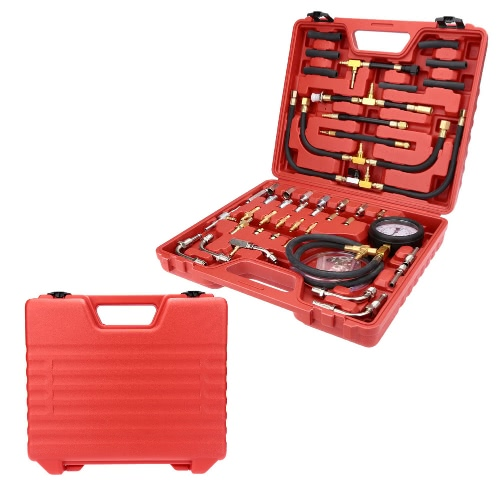Fuel Injection Pressure Tester Injector Pump Pressure Gauge Gasoline Test Set 0-140psiCar Accessories<br>Fuel Injection Pressure Tester Injector Pump Pressure Gauge Gasoline Test Set 0-140psi<br>