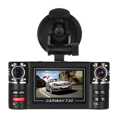F30  Dual Lens Car Driving Recorder 2.7 HD Car DVR Dash CamcorderCar Accessories<br>F30  Dual Lens Car Driving Recorder 2.7 HD Car DVR Dash Camcorder<br>