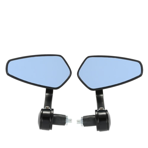 Pair of Motorcycle End Bar Rearview Mirror Universal 7/8