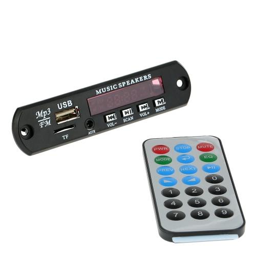 Coches música MP3 decodificador tablero Audio módulo de Radio FM con entrada auxiliar puerto USB TF Card Slot Control remoto