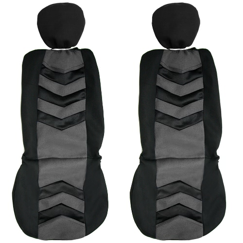 Universal Car Seat Cover Black Gray 2Front Seat Covers Fit Most Auto CarCar Accessories<br>Universal Car Seat Cover Black Gray 2Front Seat Covers Fit Most Auto Car<br>