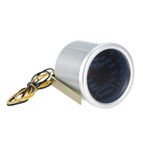 2 52mm White Digital LED Turbo Boost Meter Gauge Bright Surface PSICar Accessories<br>2 52mm White Digital LED Turbo Boost Meter Gauge Bright Surface PSI<br>
