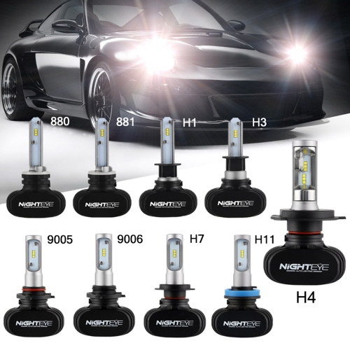 NIGHTEYE 8000LM H7 LED Headlight Kit Bulbs Replace HID Halogen White Plug&amp;PlayCar Accessories<br>NIGHTEYE 8000LM H7 LED Headlight Kit Bulbs Replace HID Halogen White Plug&amp;Play<br>