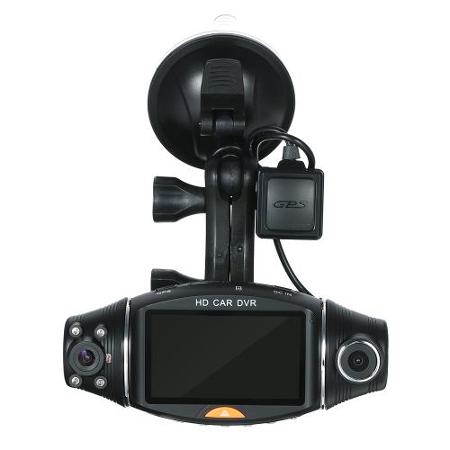 1080P HD 2.7 Dual Lens Dash Cam Car DVR Video Recorder Camera GPS ModuleCar Accessories<br>1080P HD 2.7 Dual Lens Dash Cam Car DVR Video Recorder Camera GPS Module<br>