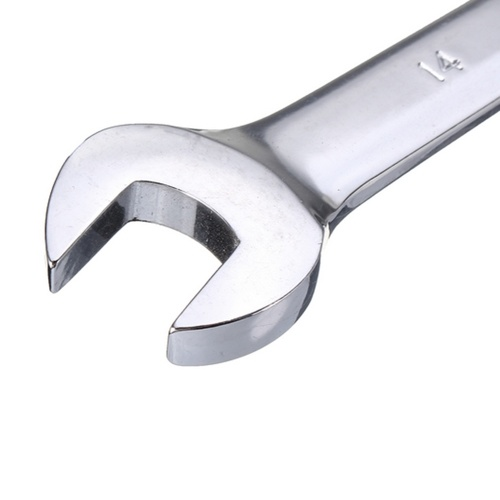 1Pc 14mm Open-Ring Spanner Ratchet Wrench Hand Tool