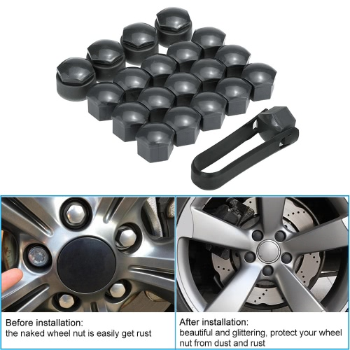 Set of 16+4pcs Universal 17mm Car Wheel Nut Bolt Covers Locking CapsCar Accessories<br>Set of 16+4pcs Universal 17mm Car Wheel Nut Bolt Covers Locking Caps<br>