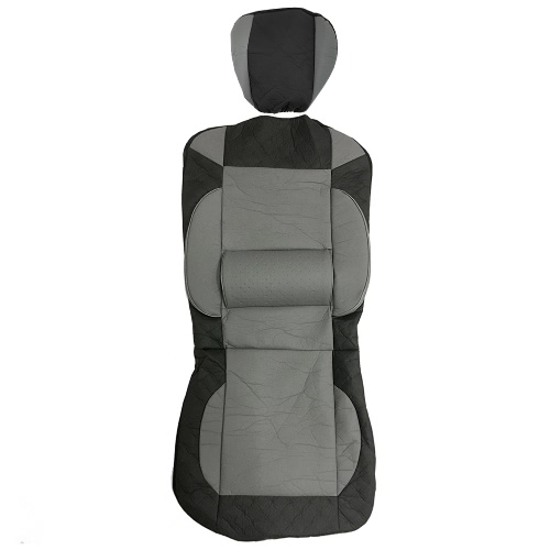 Universal PU Leather Car Front Single Seat Covers Black GrayCar Accessories<br>Universal PU Leather Car Front Single Seat Covers Black Gray<br>