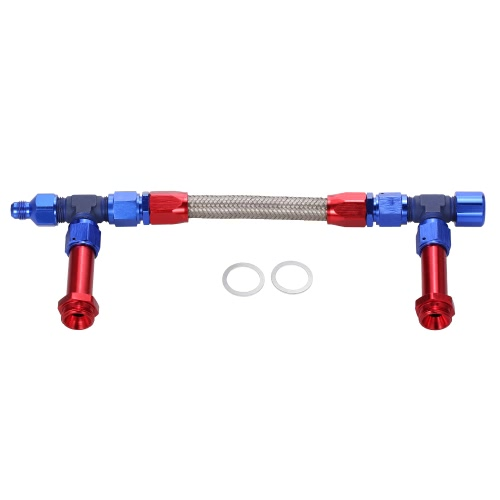 AN8 -8AN Dual Feed Fuel Line Carb Fuel Line KitCar Accessories<br>AN8 -8AN Dual Feed Fuel Line Carb Fuel Line Kit<br>