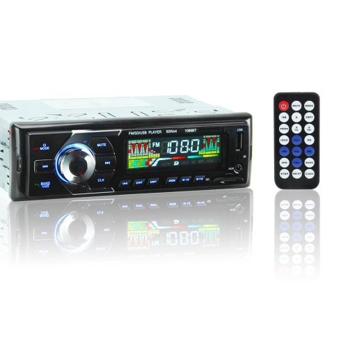 1066BT 12V Car Stereo FM Radio MP3 Audio Player Support BT Phone with USB/SD MMC Port Car Electronics In-Dash 1 DIN Wireless RemotCar Accessories<br>1066BT 12V Car Stereo FM Radio MP3 Audio Player Support BT Phone with USB/SD MMC Port Car Electronics In-Dash 1 DIN Wireless Remot<br>