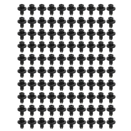 Chiusura rivetto in nylon Chiusura a spinta Tipo rivetto fermo rivetto 6mm Dimensione foro 100 pz