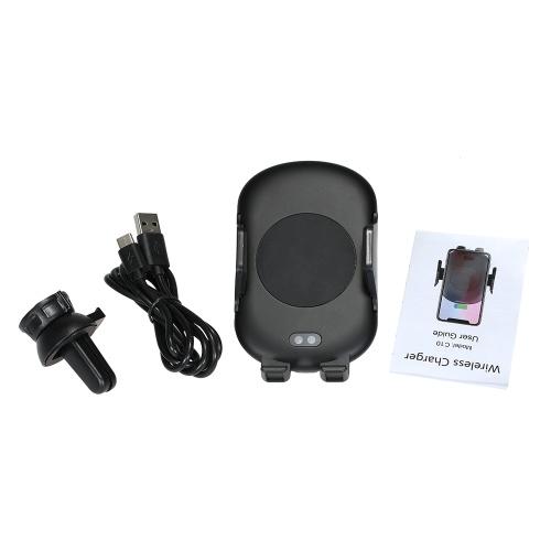 Caricabatteria da auto wireless Qi senza fili Caricatore rapido per auto Telefono Mount Air Vent Supporto per telefono per Samsung Galaxy S9 S9 Plus S8 Bordo S7 / S7 Nota 8 5 Per iPhone X 8/8 Plus