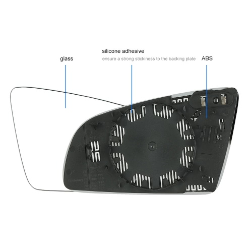 Right Drive Side Heated Electric Wing Door Mirror Glass for Audi A3 A4 A6 2001-2008Car Accessories<br>Right Drive Side Heated Electric Wing Door Mirror Glass for Audi A3 A4 A6 2001-2008<br>