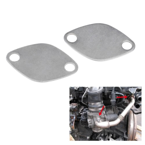 Pair of EGR Valve Blanking Block Plates Kit for RENAULT ESPACE LAGUNA MASTER TRAFIC VAUXHALL MOVANO 2.2 2.5 dCiCar Accessories<br>Pair of EGR Valve Blanking Block Plates Kit for RENAULT ESPACE LAGUNA MASTER TRAFIC VAUXHALL MOVANO 2.2 2.5 dCi<br>