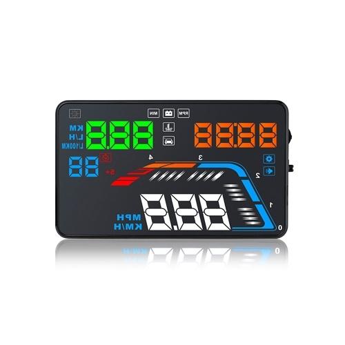 Proyector del coche HUD Multi función velocímetro sobre alarma de voltaje de velocidad