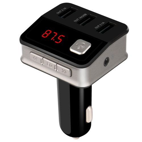 Bluetooth Car Charger Three-USB-port Charging Hands-Free Calling Professional FM Transmitter for Car Radio Wireless Music Audio AdCar Accessories<br>Bluetooth Car Charger Three-USB-port Charging Hands-Free Calling Professional FM Transmitter for Car Radio Wireless Music Audio Ad<br>