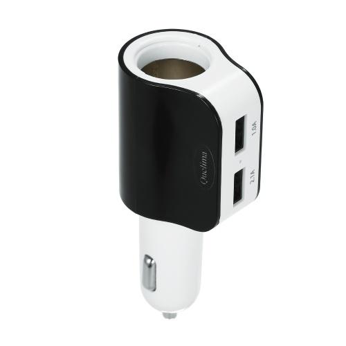 Quelima 5V 2.1A Dual USB 2.0 Интерфейс Автомобильное зарядное устройство Прикуриватель Синий