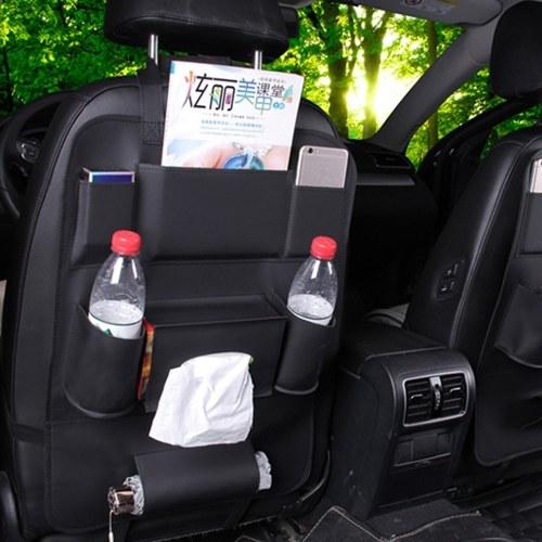 Sacchetto di immagazzinaggio della sede di automobile che appende la scatola di immagazzinaggio di cuoio multifunzionale di sicurezza dei bambini posteriore dell'automobile