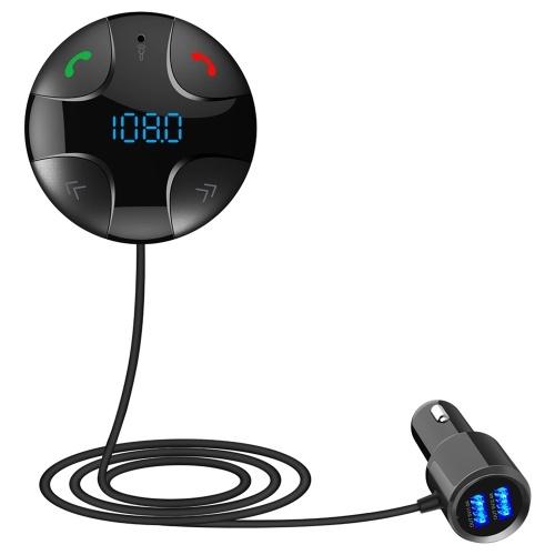 Quelima BC29B BT FM Transmitter Magnetic Car BT Transmitter  Dual USB