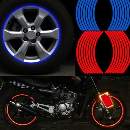 16Pcs Rim Strips Cool Car Styling Wheel Reflective Sticker Motorcycle DIY Personalized Decoration Modification Tape Decals TireCar Accessories<br>16Pcs Rim Strips Cool Car Styling Wheel Reflective Sticker Motorcycle DIY Personalized Decoration Modification Tape Decals Tire<br>