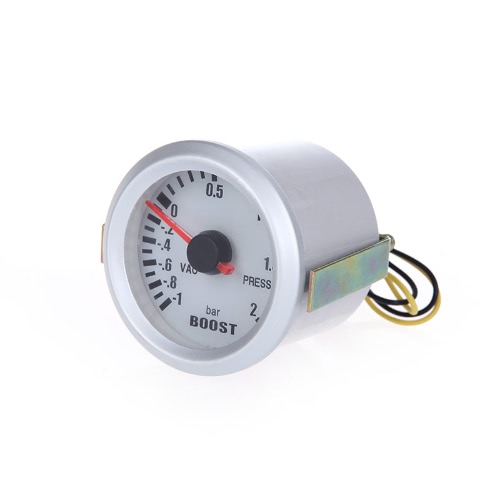 Turbo Boost Vacuum Press Gauge Meter for Auto Car 2 52mm -1~2BAR Blue LED LightCar Accessories<br>Turbo Boost Vacuum Press Gauge Meter for Auto Car 2 52mm -1~2BAR Blue LED Light<br>