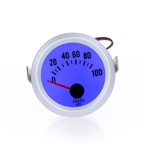 Oil Pressure Meter Gauge with Sensor for Auto Car 2 52mm 0~100PSI Blue LED LightCar Accessories<br>Oil Pressure Meter Gauge with Sensor for Auto Car 2 52mm 0~100PSI Blue LED Light<br>