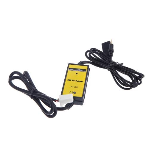 Auto auto USB adattatore Aux-in MP3 Player Radio interfaccia per Toyota Camry/Corolla/Matrix 2 * 6Pin