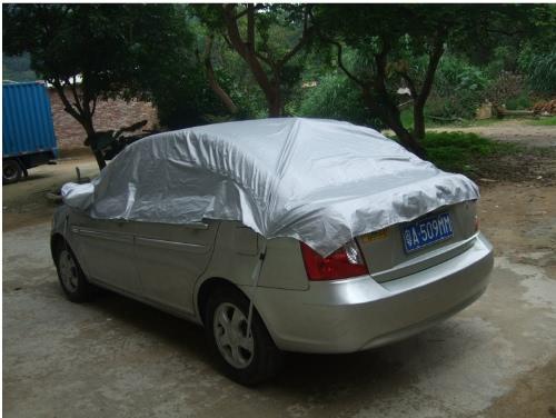 Evitar calor frio sol chuva neve carro capa meia tampa de revestimento de PVC tamanho M 270 * 150cm