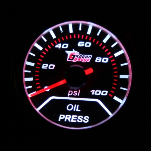 2 52mm 0-100PSI Universal Car Smoke Lens Pointer Oil Pressure Gauge Car Styling Auto Gauge Meter Car InstrumentCar Accessories<br>2 52mm 0-100PSI Universal Car Smoke Lens Pointer Oil Pressure Gauge Car Styling Auto Gauge Meter Car Instrument<br>