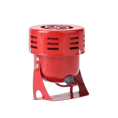 12V 3 Automotive Air Raid Siren Horn Car Truck Motor Driven Alarm RedCar Accessories<br>12V 3 Automotive Air Raid Siren Horn Car Truck Motor Driven Alarm Red<br>
