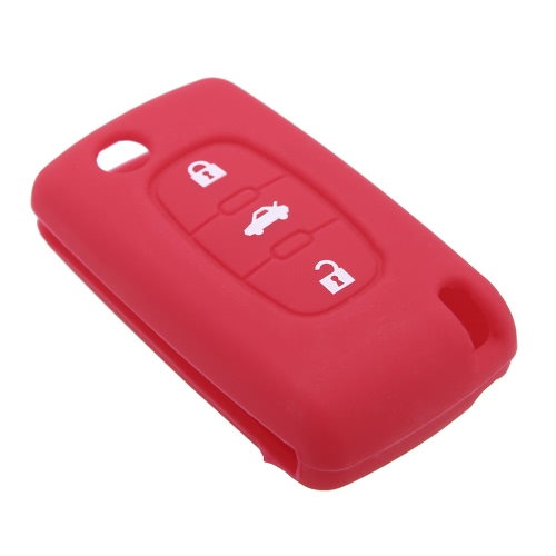 Silicone Case Cover Fit for Peugeot Key With 3 ButtonCar Accessories<br>Silicone Case Cover Fit for Peugeot Key With 3 Button<br>