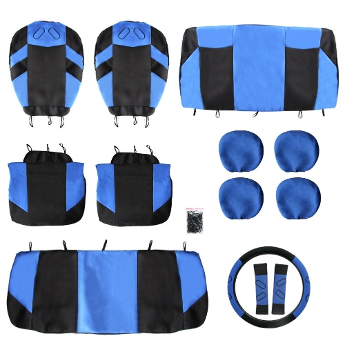 Tirol Universal 13PCS Car Seat Cover Front Seat Bench Seat Covers Wheel Cover Set Red/Blue/Gray/BeigeCar Accessories<br>Tirol Universal 13PCS Car Seat Cover Front Seat Bench Seat Covers Wheel Cover Set Red/Blue/Gray/Beige<br>