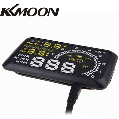 KKmoon 5.5 Inch Car HUD Head Up Display KM/h &amp; MPH Speeding Warning OBD2 Interface Windshield Project SystemCar Accessories<br>KKmoon 5.5 Inch Car HUD Head Up Display KM/h &amp; MPH Speeding Warning OBD2 Interface Windshield Project System<br>