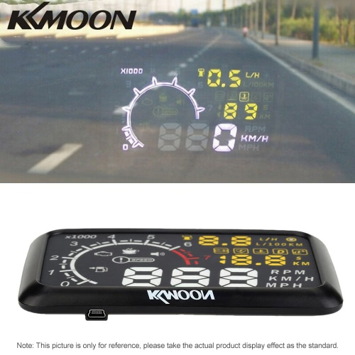 KKmoon 5.5 Inch Car HUD Head Up Display KM/h &amp; MPH Speeding Warning OBD2 Interface Windshield Project System with Bluetooth FunctiCar Accessories<br>KKmoon 5.5 Inch Car HUD Head Up Display KM/h &amp; MPH Speeding Warning OBD2 Interface Windshield Project System with Bluetooth Functi<br>