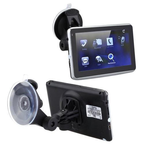 5 HD Touch Screen Portable Car GPS Navigation 128MB RAM 4GB FM Video Play Car Navigator with Back Support +Free MapCar Accessories<br>5 HD Touch Screen Portable Car GPS Navigation 128MB RAM 4GB FM Video Play Car Navigator with Back Support +Free Map<br>