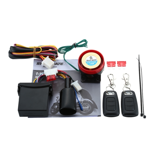 Steelmate 886E 1 Way Motorcycle Alarm System Water Resistant ECU Motorcycle Engine Immobilization with Fashionable TransmitterCar Accessories<br>Steelmate 886E 1 Way Motorcycle Alarm System Water Resistant ECU Motorcycle Engine Immobilization with Fashionable Transmitter<br>