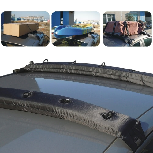 Inflatable Universal Roof Top Rack Soft Luggage Carrier Travel Touring For Car Kayak 2PcsCar Accessories<br>Inflatable Universal Roof Top Rack Soft Luggage Carrier Travel Touring For Car Kayak 2Pcs<br>