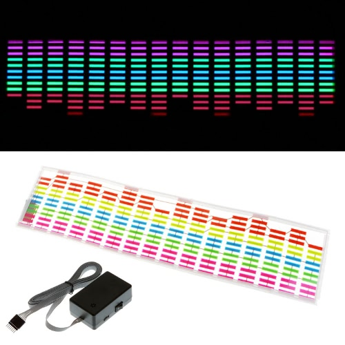 Car Sticker Music Rhythm LED Flash Light Lamp Sound Activated EqualizerCar Accessories<br>Car Sticker Music Rhythm LED Flash Light Lamp Sound Activated Equalizer<br>