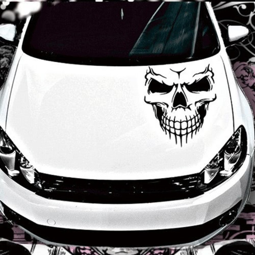 Novel Scary Cool Skull Skeleton Pattern Car Engine Cover Waterproof Car Sticker Outdoor Window Reflective Sheeting 3D Windshield DCar Accessories<br>Novel Scary Cool Skull Skeleton Pattern Car Engine Cover Waterproof Car Sticker Outdoor Window Reflective Sheeting 3D Windshield D<br>
