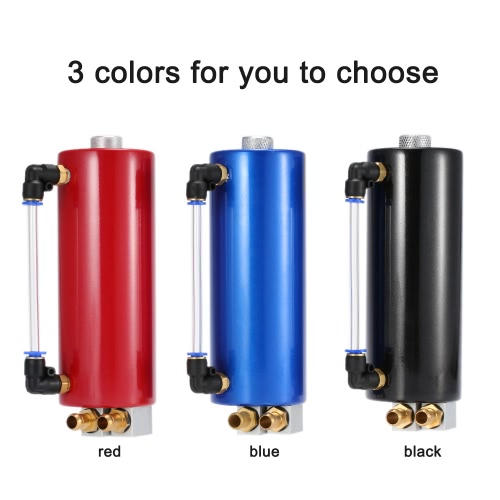 Universal Aluminum Racing Engine Oil Catch Tank Car Billet Round Turbo Reservoir Can KitCar Accessories<br>Universal Aluminum Racing Engine Oil Catch Tank Car Billet Round Turbo Reservoir Can Kit<br>