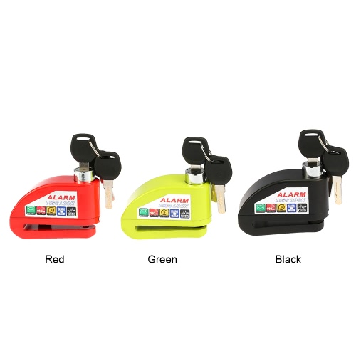Motorcycle Scooter Bicycle Disc Brake Lock Security Anti-theft Alarm LockCar Accessories<br>Motorcycle Scooter Bicycle Disc Brake Lock Security Anti-theft Alarm Lock<br>