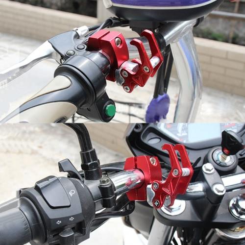7/8 22mm CNC Aluminum Motorcycle Handlebar Luggage Helmet Bag Hanger Hook Universal HolderCar Accessories<br>7/8 22mm CNC Aluminum Motorcycle Handlebar Luggage Helmet Bag Hanger Hook Universal Holder<br>