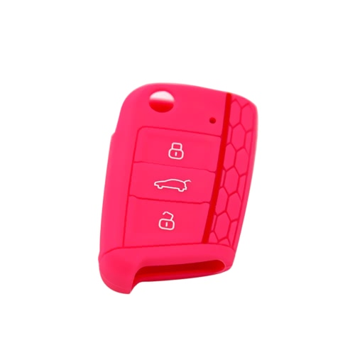 New High Quality Honeycomb Red-line Car Environmental Silicone Key Fob Protector Cover Case for VW Golf7Car Accessories<br>New High Quality Honeycomb Red-line Car Environmental Silicone Key Fob Protector Cover Case for VW Golf7<br>
