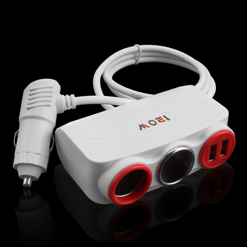 Universal 12V-24V Auto Cigar Lighter With Two-Port Socket 120W Dual USB Ports High Speed Charging Vehicle Car Charge Tool For MobiCar Accessories<br>Universal 12V-24V Auto Cigar Lighter With Two-Port Socket 120W Dual USB Ports High Speed Charging Vehicle Car Charge Tool For Mobi<br>