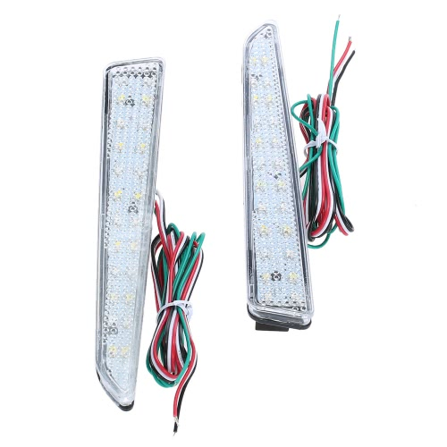 Pair of Rear Bumper Reflect Warning Light Plate Replacement Modification Tail Brake Lamp for TANTO-custom L375 L378 SeriesCar Accessories<br>Pair of Rear Bumper Reflect Warning Light Plate Replacement Modification Tail Brake Lamp for TANTO-custom L375 L378 Series<br>