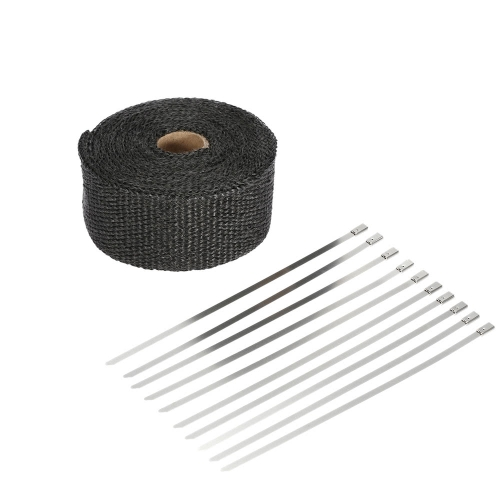 5m Fiberglass Heat Exhaust Wrap Roll Motorcycle Car Heat Insulated Wrap Turbo Intake Manifold Heat Wrap Durable Heat Shield Tape wCar Accessories<br>5m Fiberglass Heat Exhaust Wrap Roll Motorcycle Car Heat Insulated Wrap Turbo Intake Manifold Heat Wrap Durable Heat Shield Tape w<br>