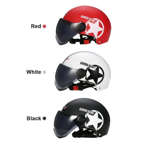Motorcycle Helmet Half Open Face Adjustable Size Protection Gear Head Helmets Unisex Five-pointed StarCar Accessories<br>Motorcycle Helmet Half Open Face Adjustable Size Protection Gear Head Helmets Unisex Five-pointed Star<br>