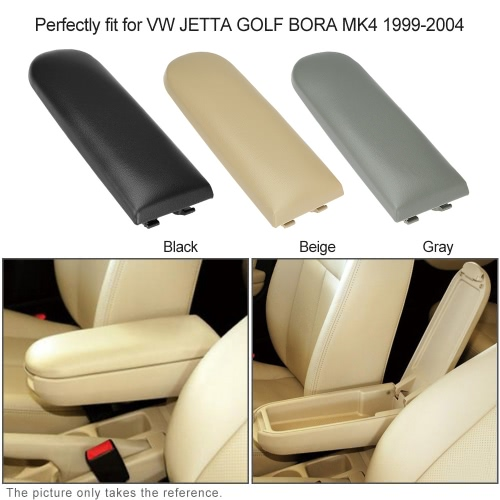 Fiber Leather Armrest Cover Center Console Armrest Cap with Latch Lid  Gray for VW Golf MK4 Passat B5 Polo R32 1998-2009Car Accessories<br>Fiber Leather Armrest Cover Center Console Armrest Cap with Latch Lid  Gray for VW Golf MK4 Passat B5 Polo R32 1998-2009<br>