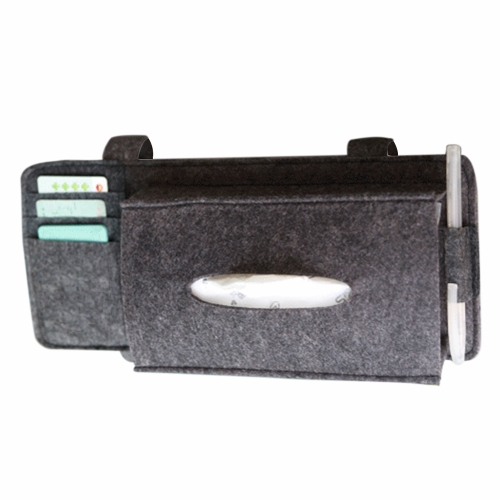 Fashion Car Styling Case Sun Visor Type Wool Felt Hanging Tissue Box Car Napkin Holder Vehicle Accessories Pocket Organizer PouchCar Accessories<br>Fashion Car Styling Case Sun Visor Type Wool Felt Hanging Tissue Box Car Napkin Holder Vehicle Accessories Pocket Organizer Pouch<br>