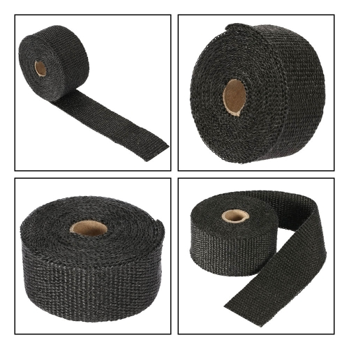 10m Fiberglass Wrap Exhaust Heat Wrap Roll Insulating Pipe Durable High Heat Shield Tape for Motorcycle Car with 6 TiesCar Accessories<br>10m Fiberglass Wrap Exhaust Heat Wrap Roll Insulating Pipe Durable High Heat Shield Tape for Motorcycle Car with 6 Ties<br>