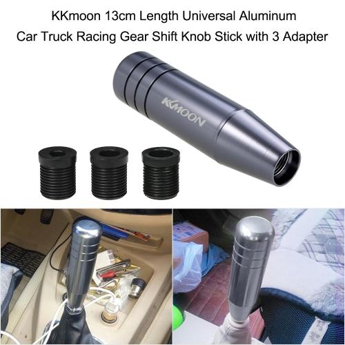 KKmoon 13cm Length  Universal Aluminum Car Truck Racing Gear Shift Knob Stick with 3 AdapterCar Accessories<br>KKmoon 13cm Length  Universal Aluminum Car Truck Racing Gear Shift Knob Stick with 3 Adapter<br>